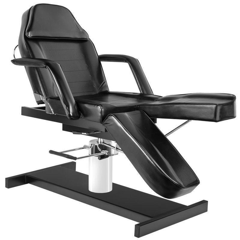 SMB Tetováló szék, hidraulikus, váltott lábas, fekete | SMB 4917